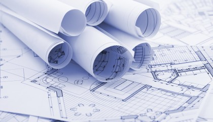 Rolled Construction Plans